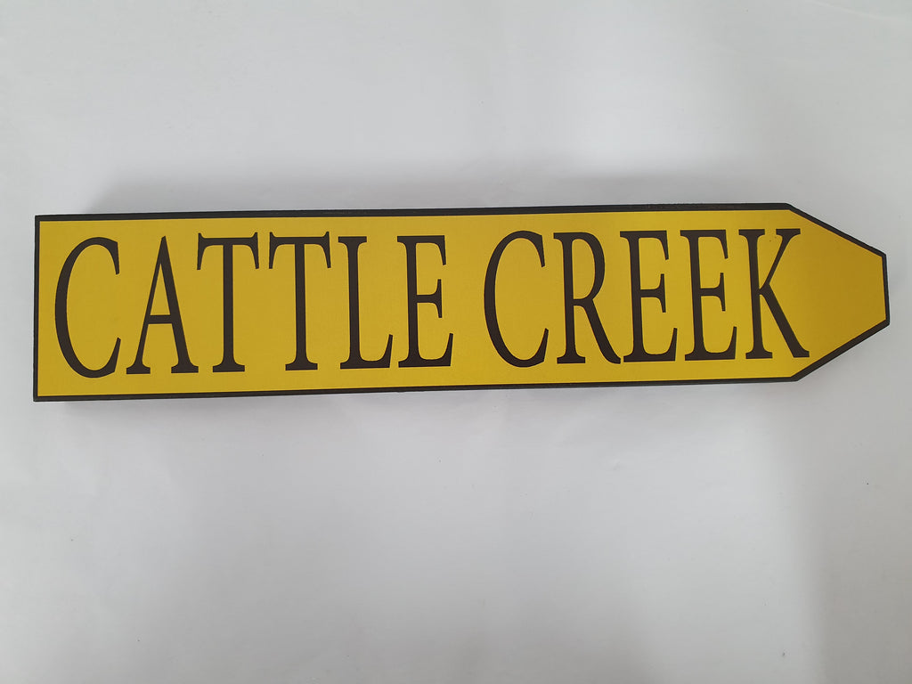 Place Name Road Sign - Cattle Creek
