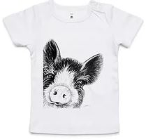 Dana Johnston Innocence Collection Tee - Piglet 6-12 months
