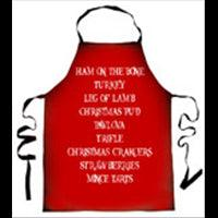Apron Xmas Food Vintage Red 80cm