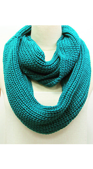 Knitted Infinity Scarf Teal