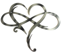 Infinity Hearts Black or Silver