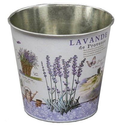 Purple Lavender Tin Pot