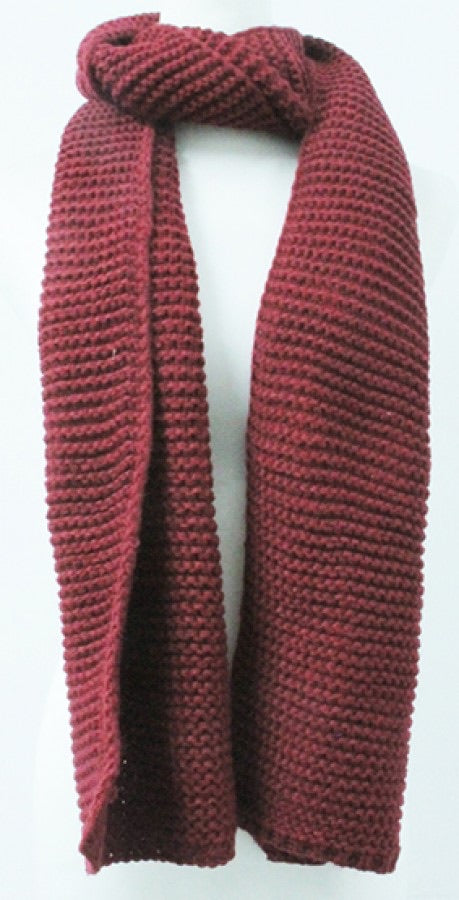 Burgundy Winter Scarf
