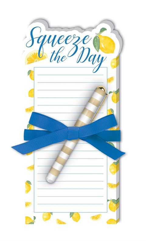 Lemon Squeeze - Die-Cut Notepad with Pen