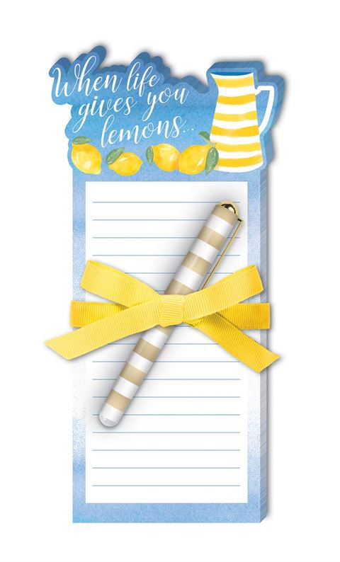 Lemonade - Die-Cut Notepad with Pen