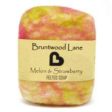 Bruntwood Lane Felted Soap Melon & Strawberry