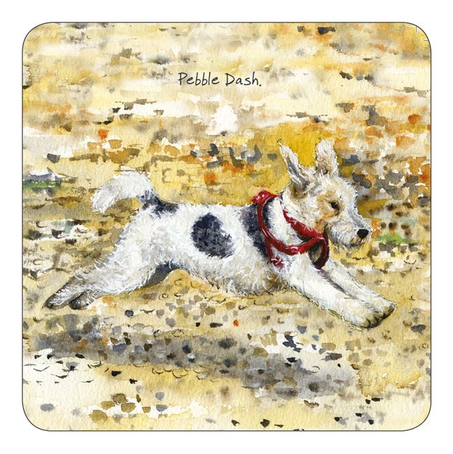 Little Dog Laughed - Pebble Dash - Coaster
