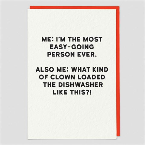 Redback Cards - Dishwasher - Humour Card