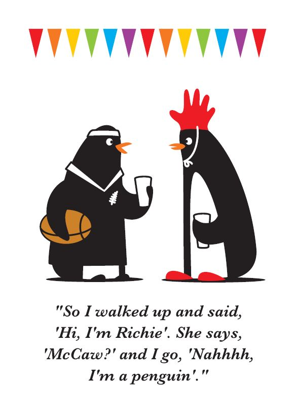 Glenn Jones Art - Hi, I'm Richie - Humour Card