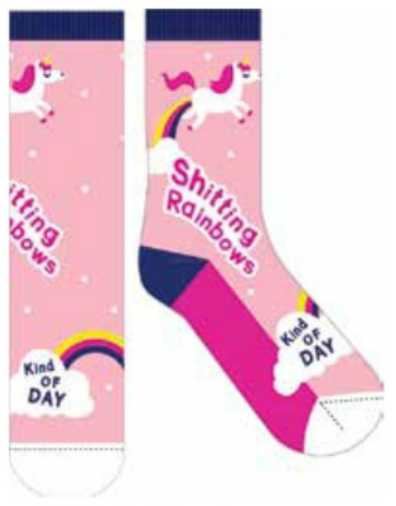 Frankly Funny Socks Rainbow Day