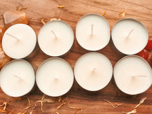 Load image into Gallery viewer, Sandalwood & Mandarin Natural Soy Tealight Candles