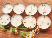 Load image into Gallery viewer, Lemon Myrtle & Lemongrass Natural Soy Tealight Candles