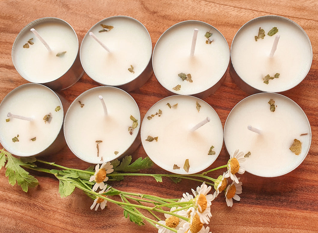 Lemon Myrtle & Lemongrass Natural Soy Tealight Candles