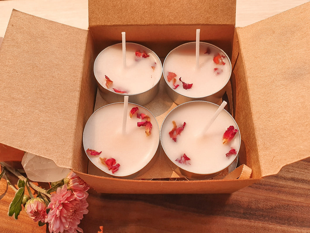 Rose & Ylang Ylang Natural Soy Tealight Candles