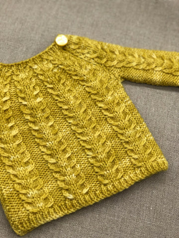 Small Cable Sweater by Vibe Ulrik Sondergaard