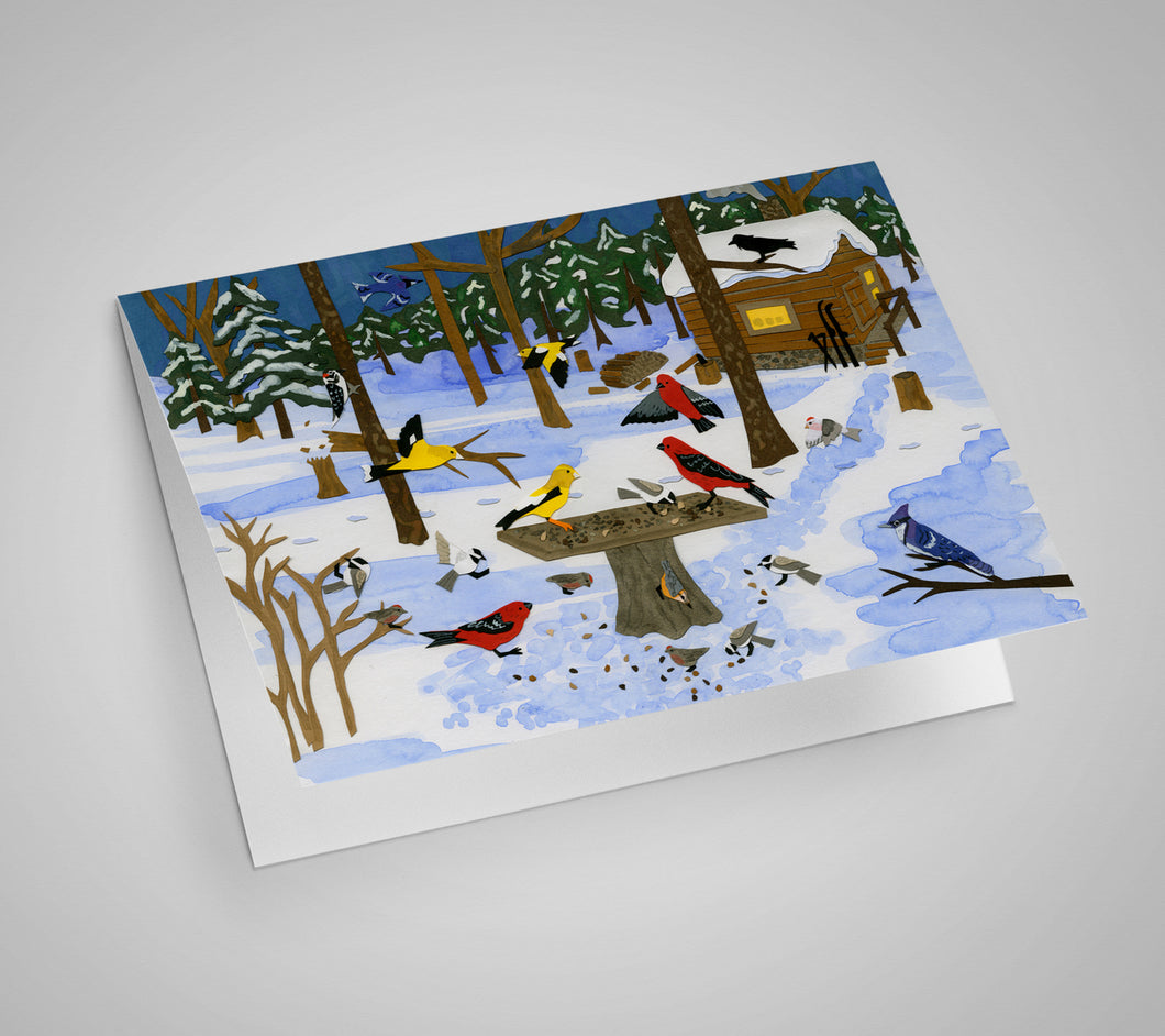 Bird Flurry Blank Card