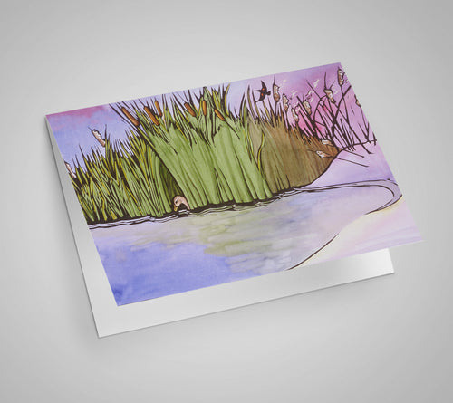 Cattails Blank Card