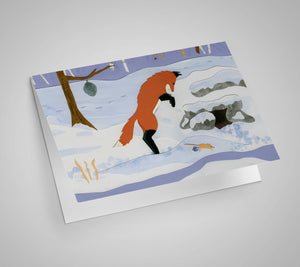 Fox Pounce Blank Card