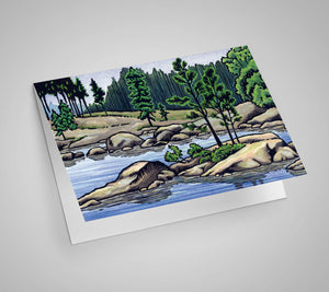 Granite Shoreline Blank Card