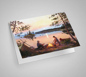 Moonrise in Canoe Country Blank Card