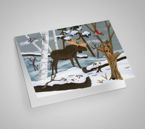 Winter Moose Blank Card