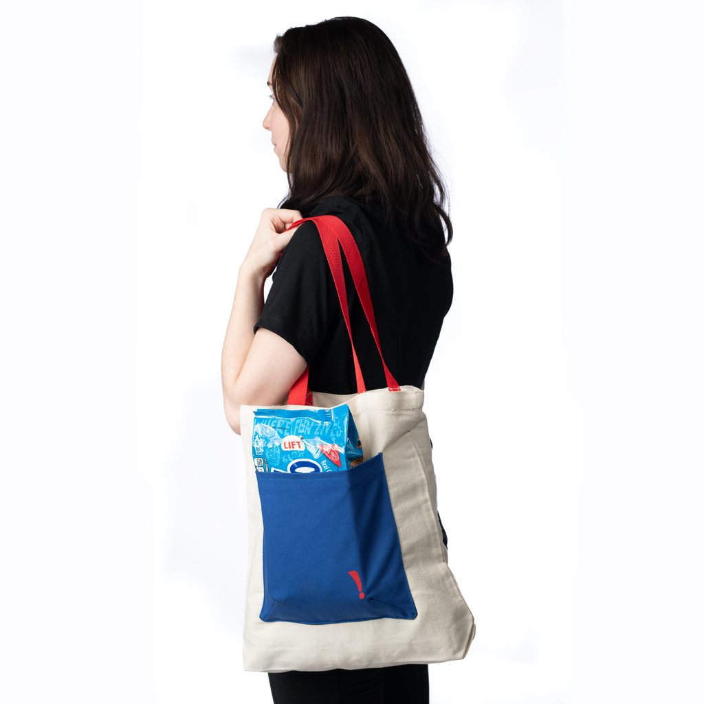 Market Tote Bag with Cookie Tray Pocket