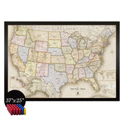 Magnetic USA Travel Map