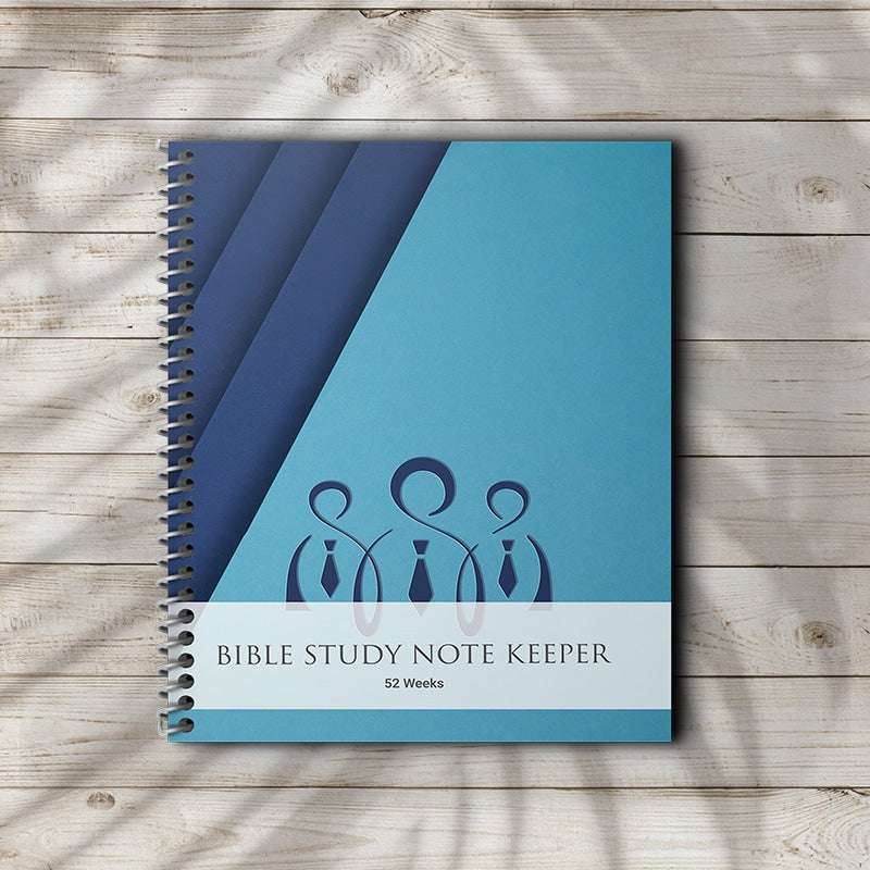 Bible Study Journal For Notes Men Blue Matte Cover Portable 7x9 Size
