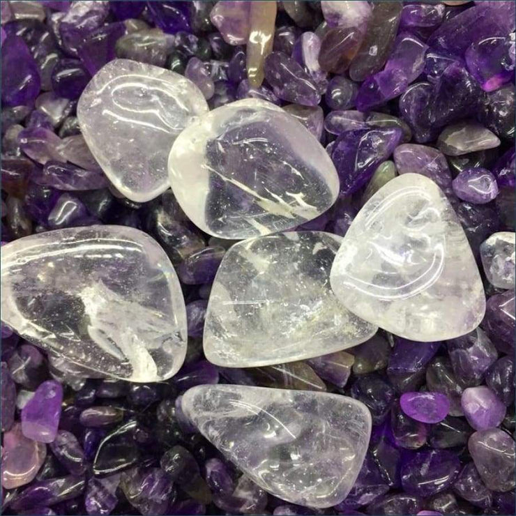 6 Pieces Tumbled Crystal Quartz Gemstones