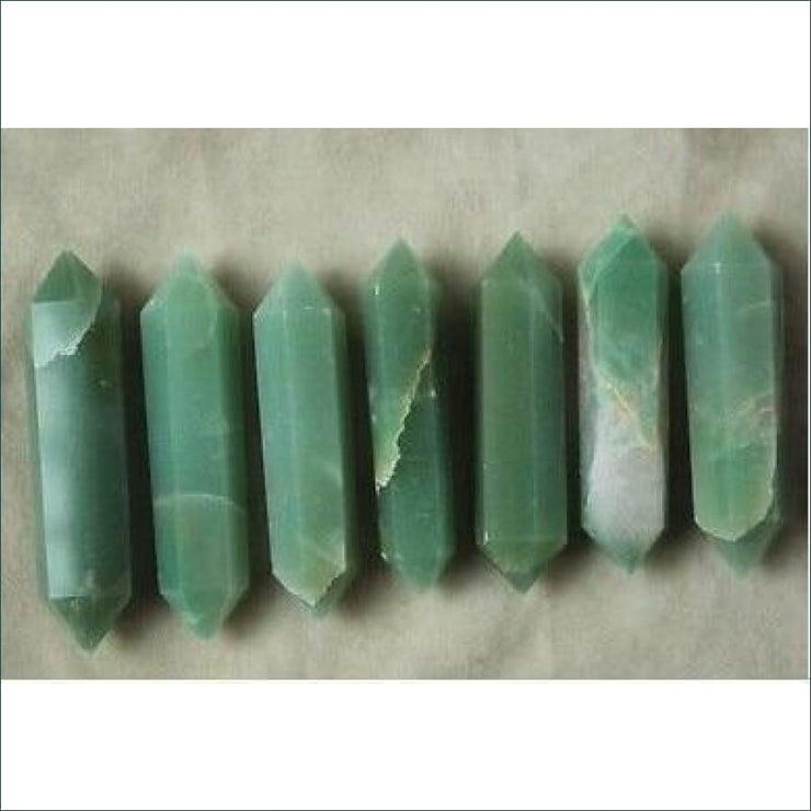 7 Piece Set Aventurine Double Point Wands Pack - Wholesale Price!