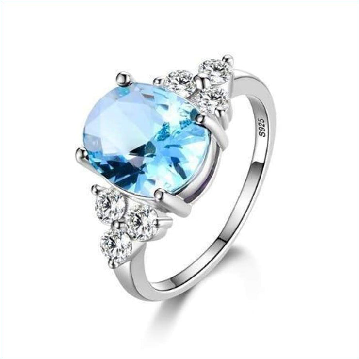 925 Sterling Silver Gemstone Fashion Ring