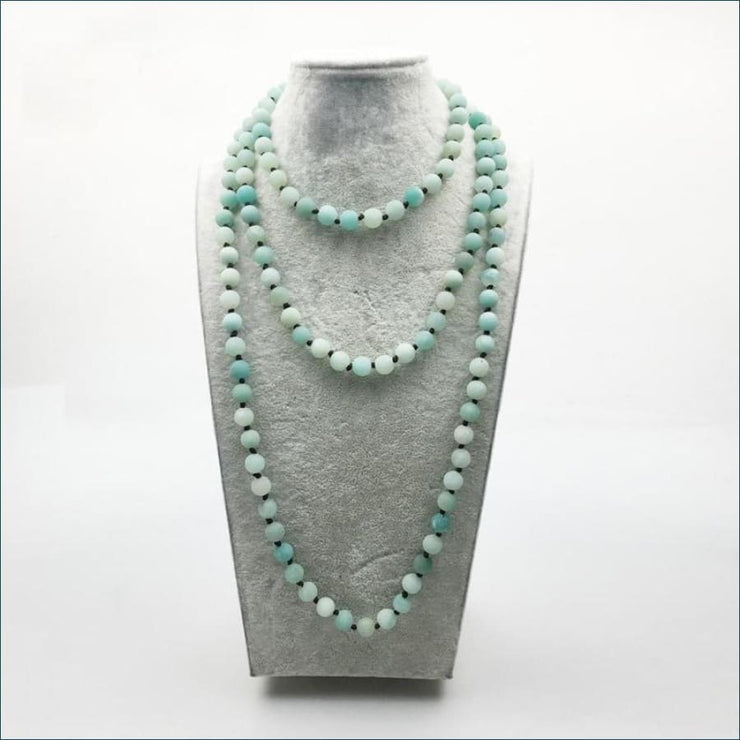Amazonite Mala Bead Necklace