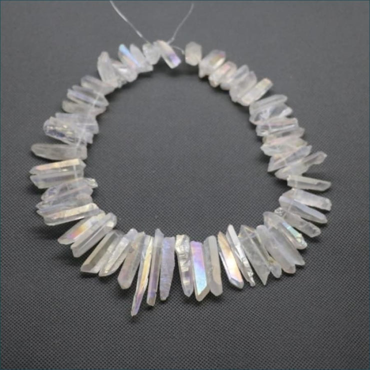 Angel Aura Quartz Shards for Jewelry Making
