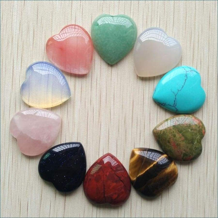 Assorted Heart-Shaped Gemstone Mix