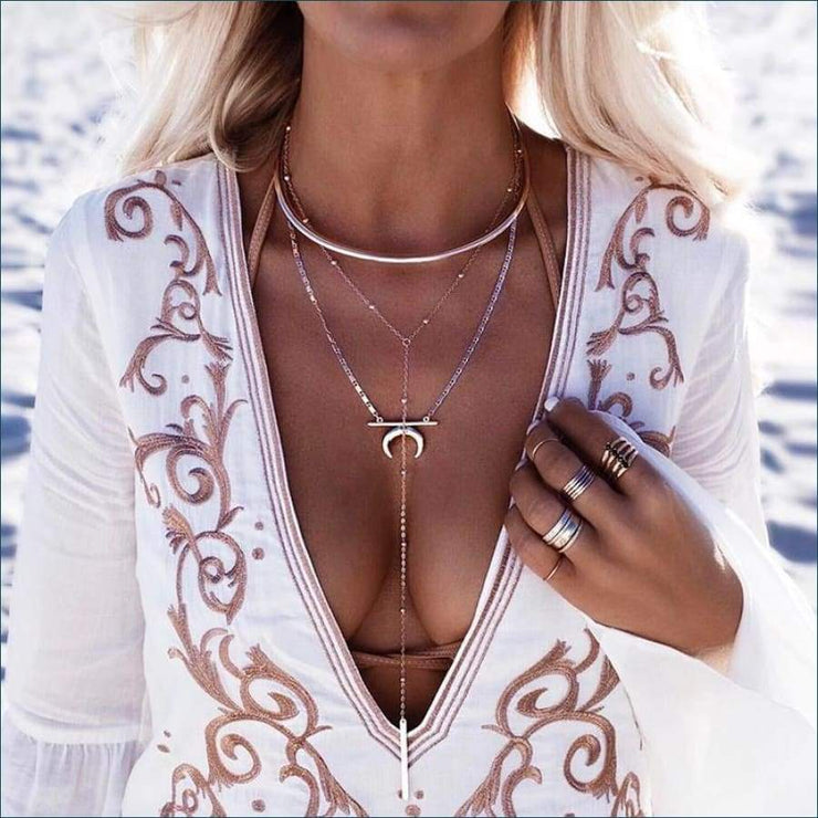 Boho Moon Layered Necklace