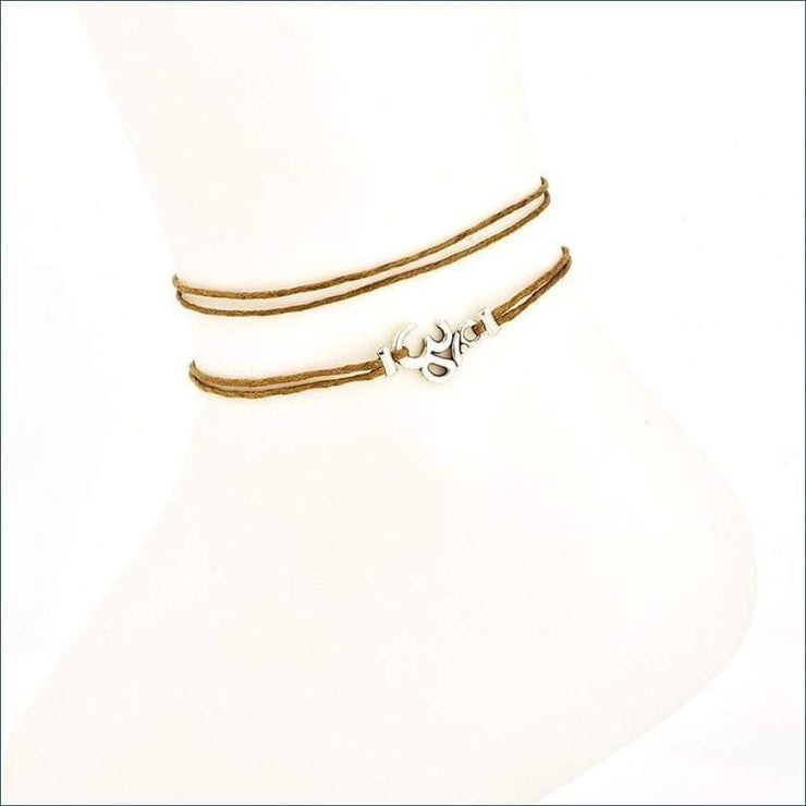 Boho Ohm Ankle Bracelet (3 Piece Set)