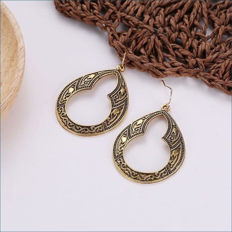 Boho Vintage Relic Earrings