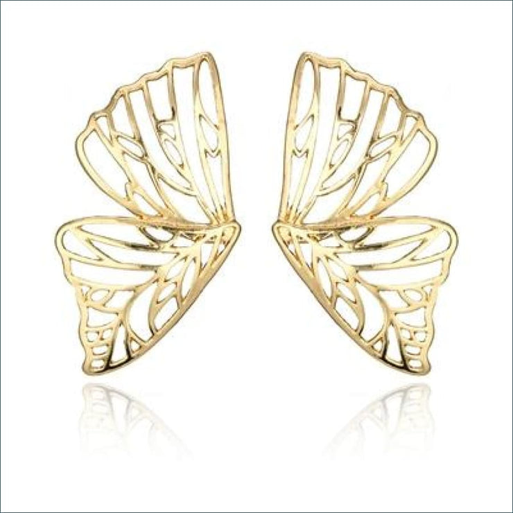 Butterfly Dangle Earrings - gold