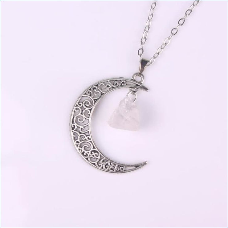 Calming Crescent Moon Pendant FREE SHIPPING TODAY ONLY! - Antique Silver 1