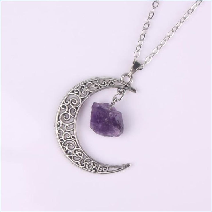 Calming Crescent Moon Pendant FREE SHIPPING TODAY ONLY! - Antique Silver