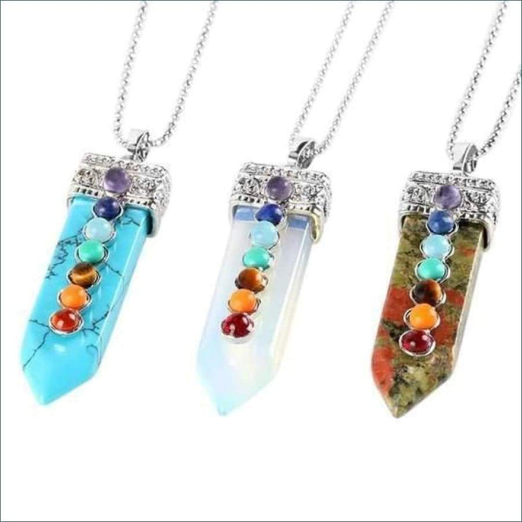Charka Gemstone Pendant Necklace