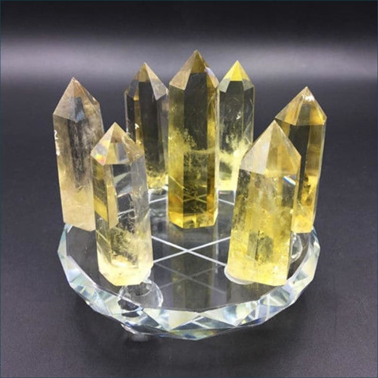 Citrine Collectors Wand Set with Stand
