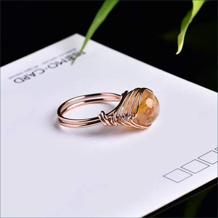 Crystal Gemstone Calming Ring Free Shipping Today Only! - Citrine