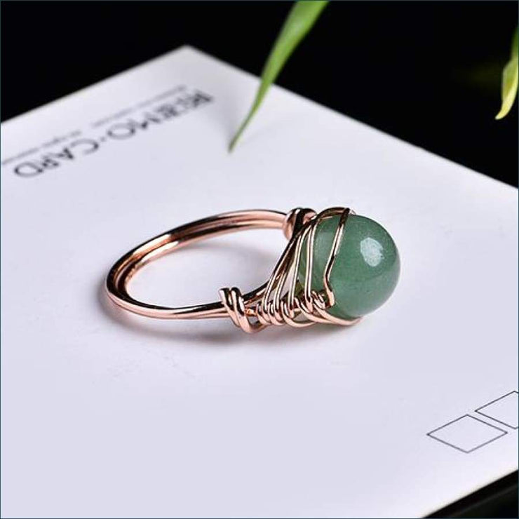 Crystal Gemstone Calming Ring Free Shipping Today Only! - Dongling Jade