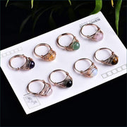 Crystal Gemstone Calming Ring Free Shipping Today Only!