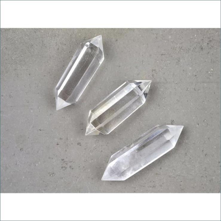 Crystal Quartz Doubled Pointed Wand