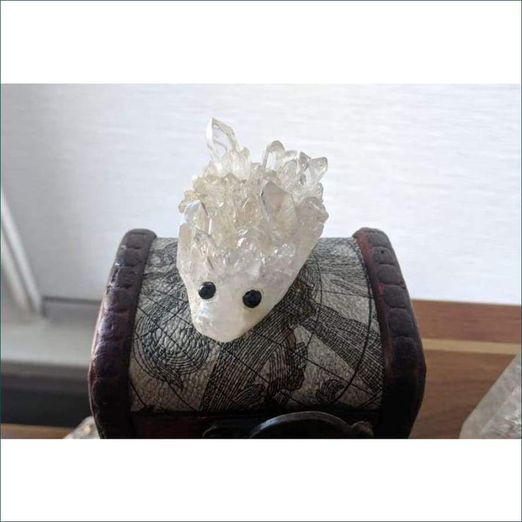 Crystal Quartz Hedgehog Carving