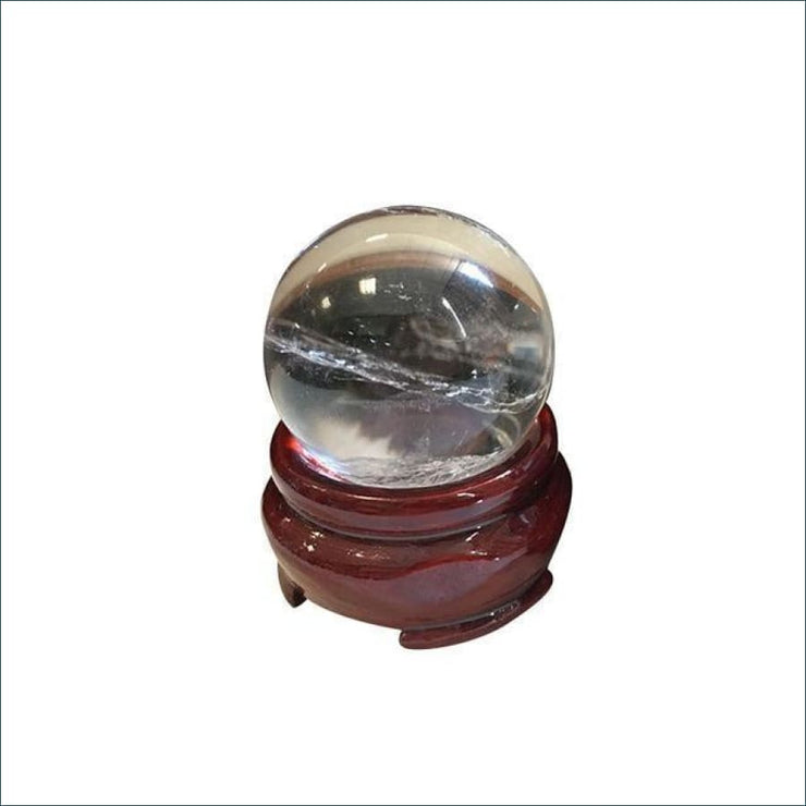 Crystal Quartz Sphere (Includes Stand)