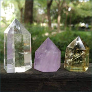 Divine Trinity Collectors Set of Rose Quartz Citrine and Crystal Quartz Wands