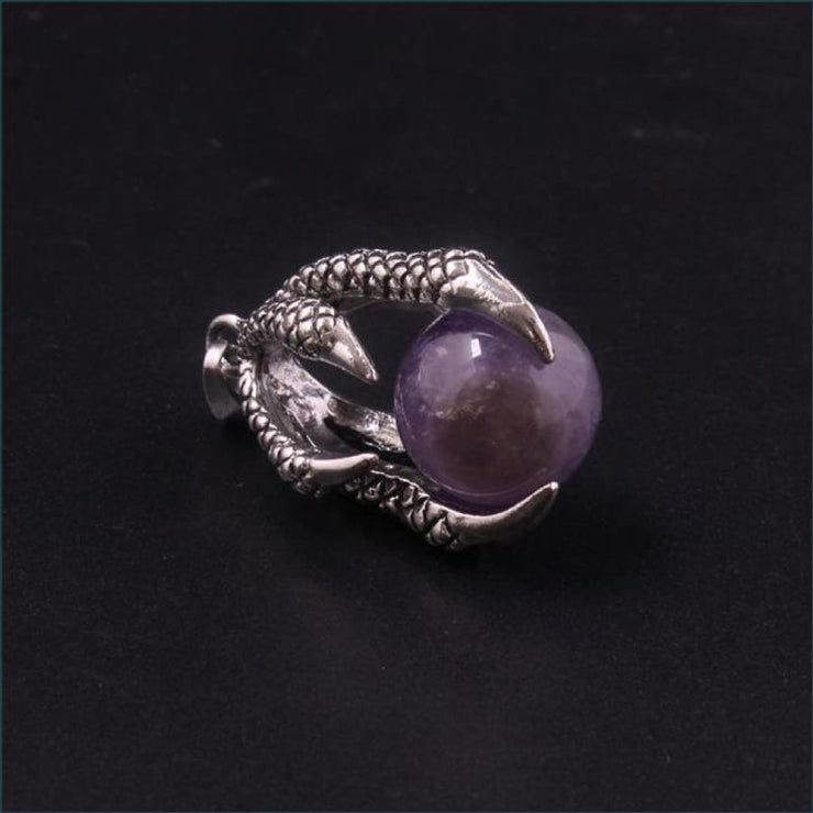 Dragon Claw Orb Pendant FREE SHIPPING TODAY ONLY! - Amethyst